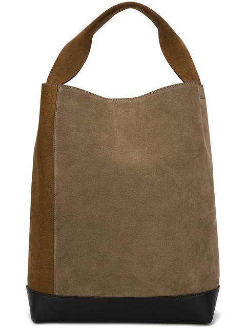 MARNI two tone 'Bucket' tote. #marni #bags #hand bags #bucket #suede #tote #
