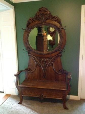 Best Of Hall Tree Antique