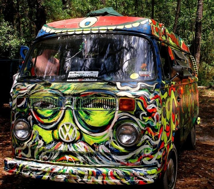 Jerry Garcia VW Bus #gratefuldead the bus came by and I got on ...