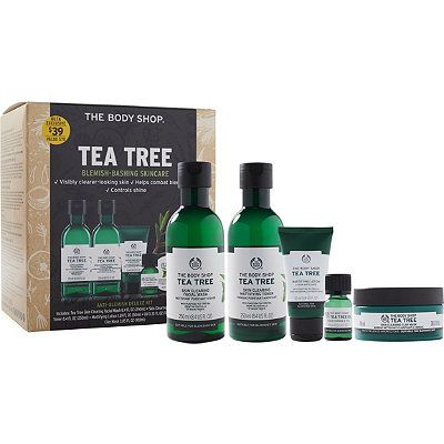 The Body Shop Online Only Tea Tree Anti Blemish Deluxe Kit Hair Hair Embalagens