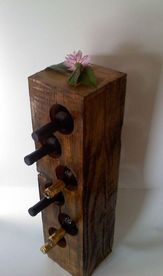 Wooden Wine Storage Block   good ideas   Timber furniture ...
