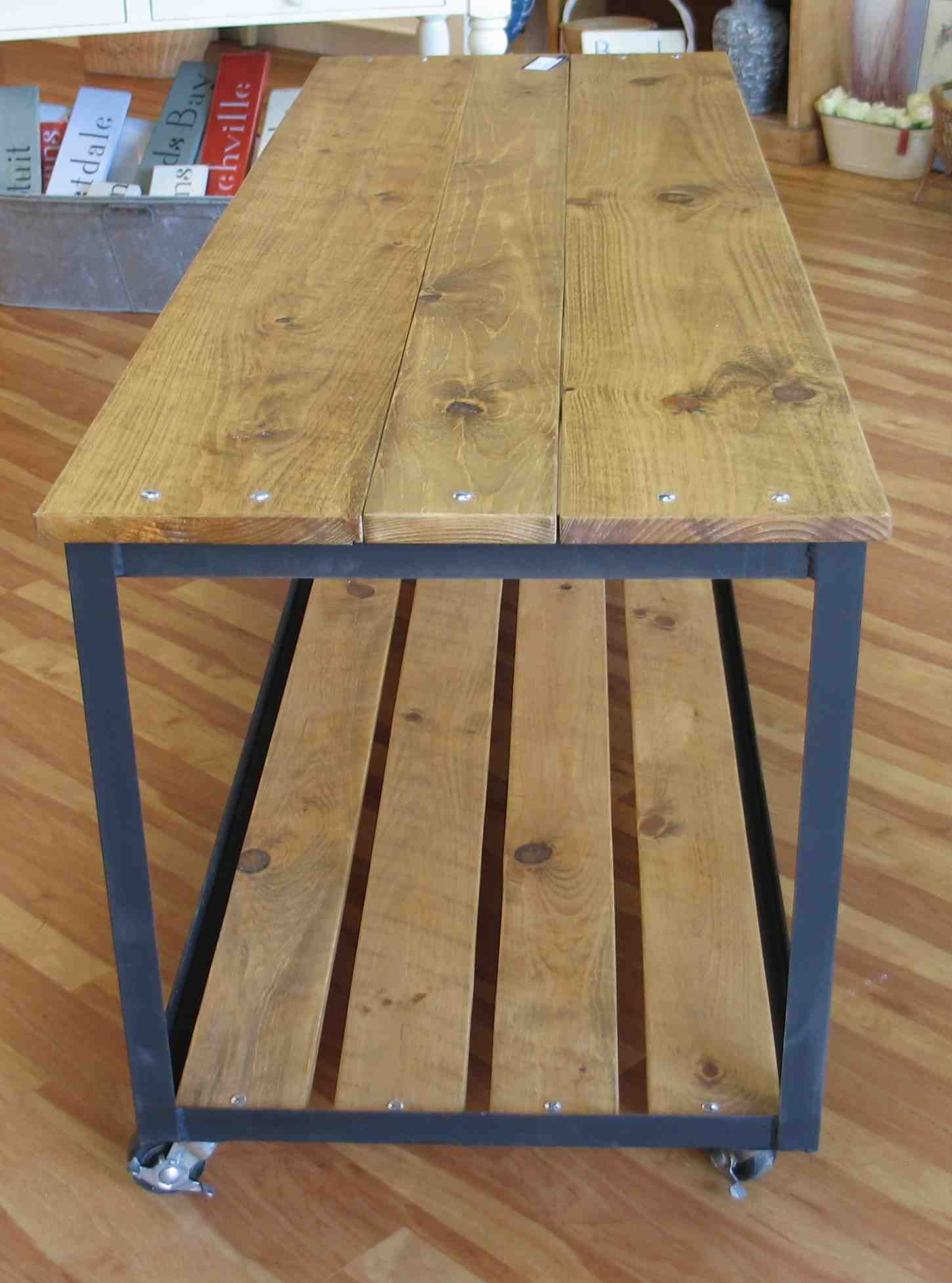 angle iron work table kitchen work tables welded on stunning wooden metal coffee table id=88938