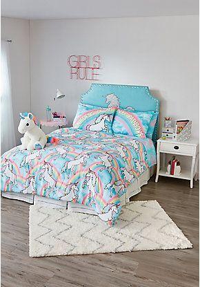 Tween Girls Bedding Bed Sets Cute Pillows Justice With Images Tween Girl Bedroom Tween Girls Bedding Unicorn Room Decor