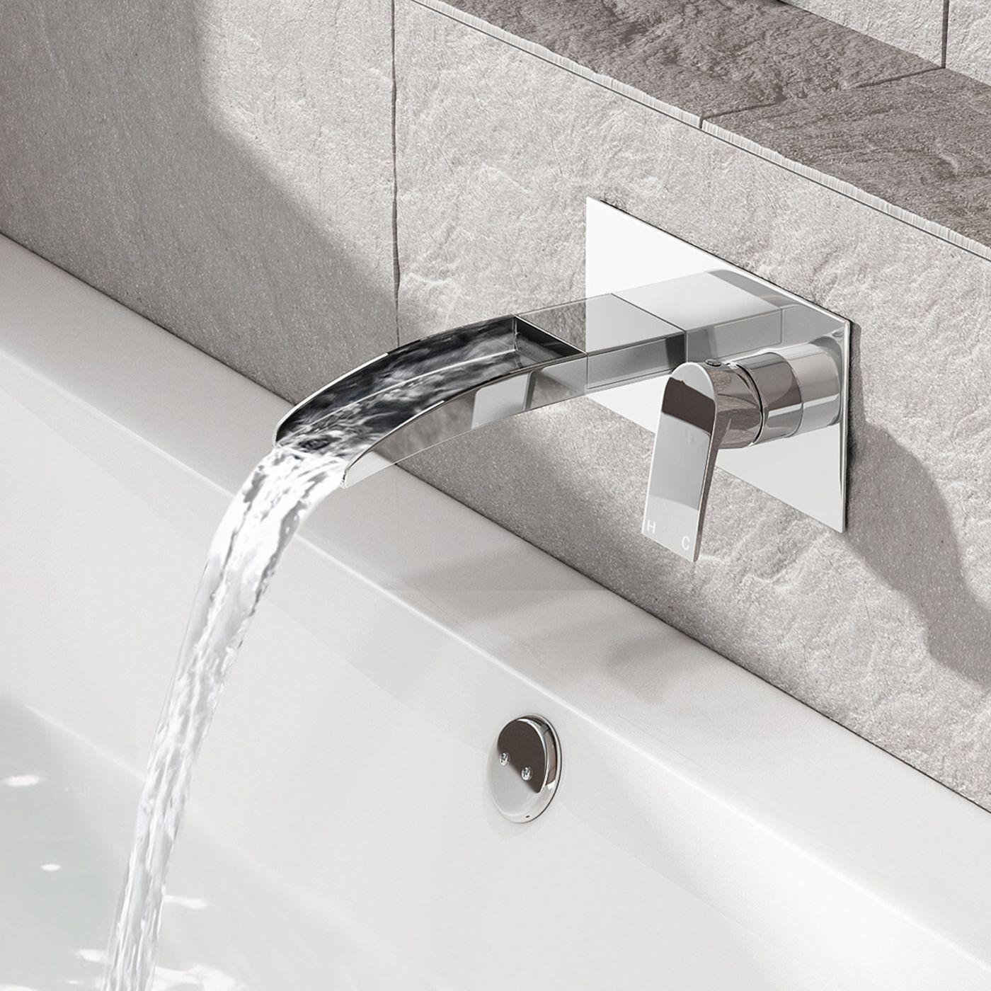 Avis Ii Wall Mounted Waterfall Bath Filler Mixer Tap