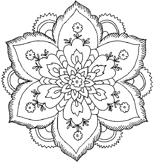 Christmas Coloring Pages Difficult Printable