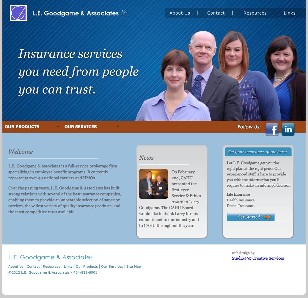 Web Design LE Goodgame and Associates (Custom html