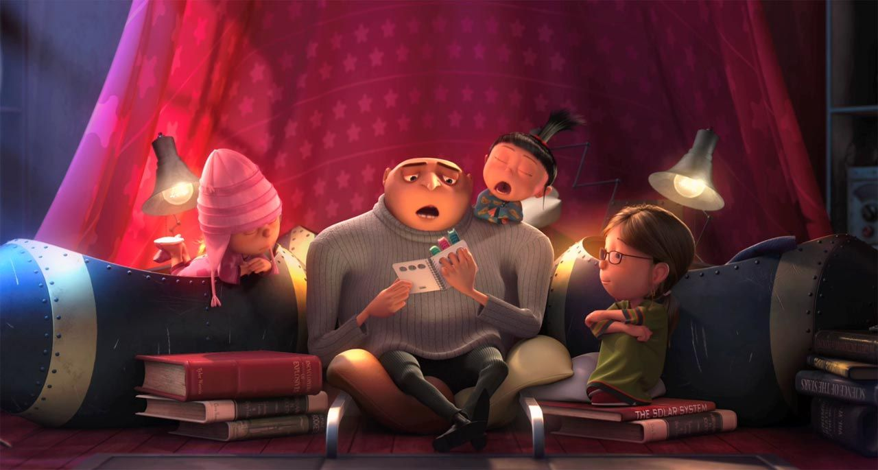 Agnes From Despicable Me Asks Gru For A Bedtime Story Agnes Despicable Me Despicable Me Despicable Me 2