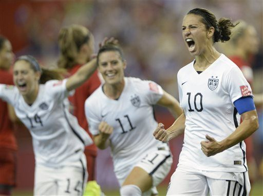 Us Heads To World Cup Final With 2 0 Win Over Germany Fifa Women S World Cup World Cup Final Carli Lloyd