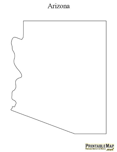 graphic relating to Printable Arizona Map known as Pin upon Crafts