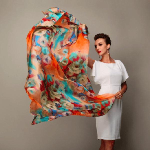 100 Mulberry Silk Long Scarf Alessio Eno Jetset Spring Scarf Fashion Scarf Women Fashion Fashion Clothes Women