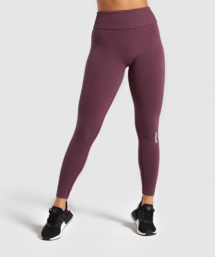 Women's Workout Clothes | Fitness & Gym Wear | Gymshark #lounge outfit winter leggings Gymshark Power Down Leggings - Berry Red