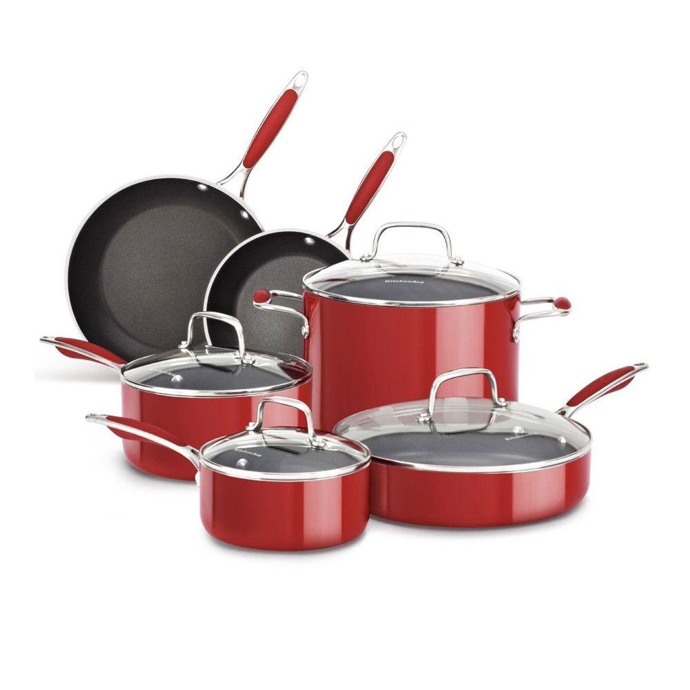 Kitchenaid kcas10er aluminum nonstick 10piece set