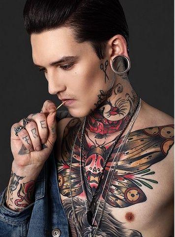 Neck Tattoos For Men Mens Neck Tattoo Ideas Tattoos For Guys Chest Tattoo Chest Tattoo Men