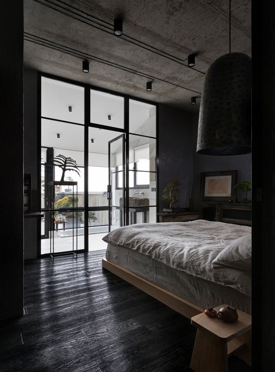 Deckengestaltung Loft Japanese Aesthetics Fill This Dark And Moody Apartment