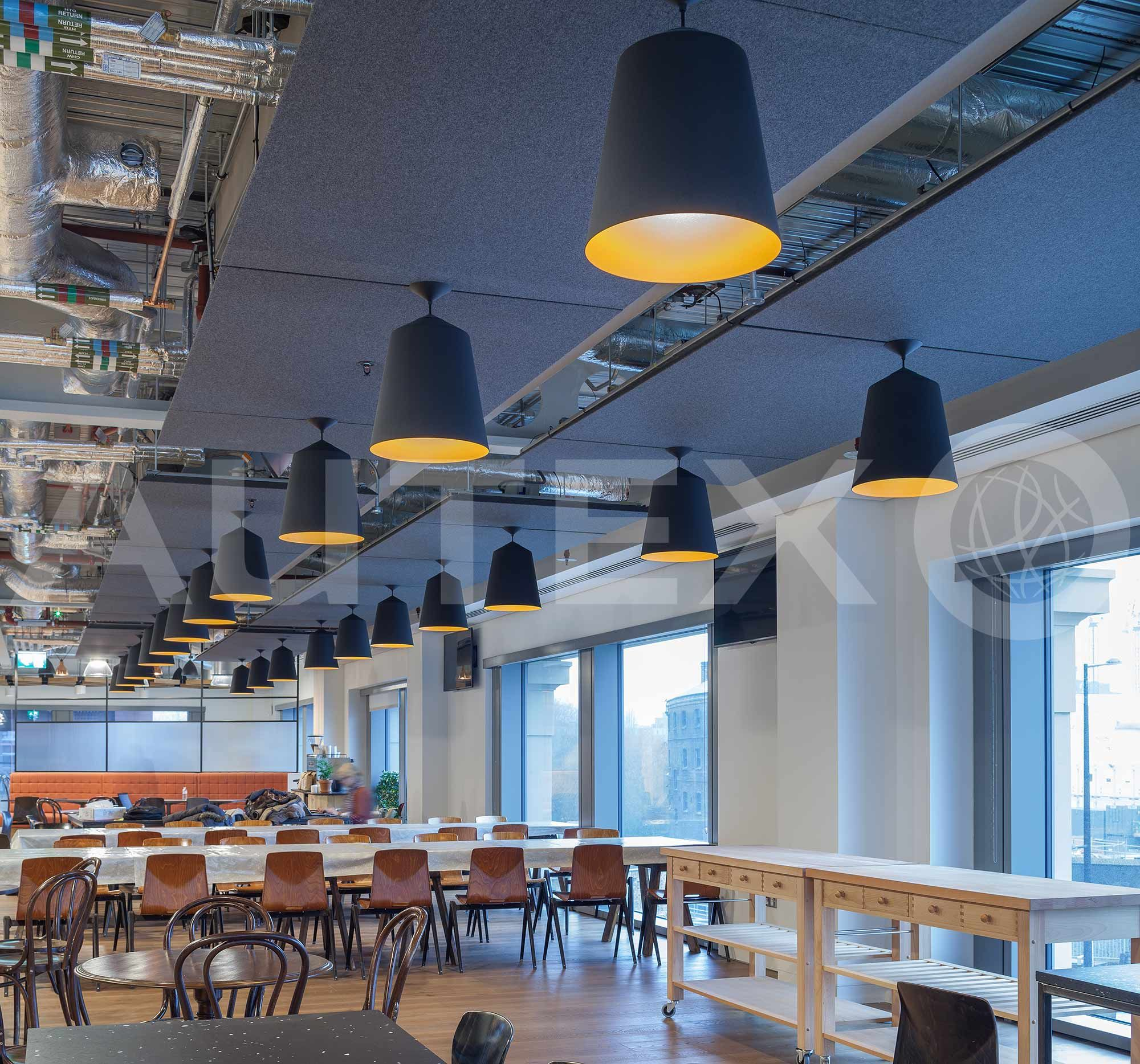 office ceilings. CAutex Acoustics - Cube™ Havas Media London, UK Colours: Empire Office Ceilings