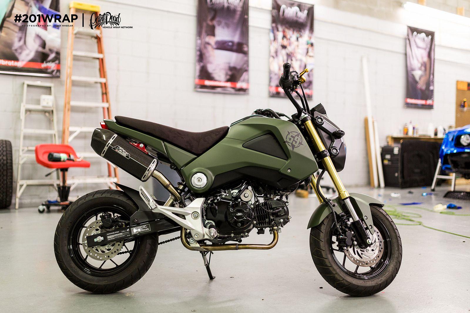 Honda Grom Military Green | OG Squad | Grom motorcycle
