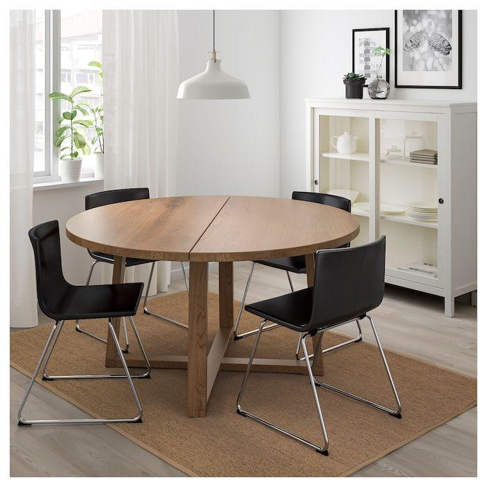 plaqué chêne 4 BERNHARD MÖRBYLÅNGA chaises et Table xeodrCB