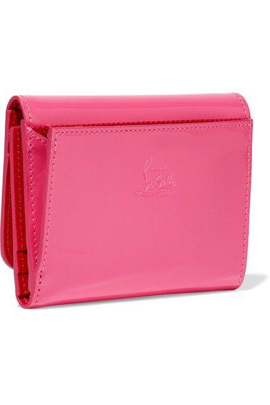 96c599afa89 Christian Louboutin - Macaron Spiked Patent-leather Wallet - Fuchsia ...