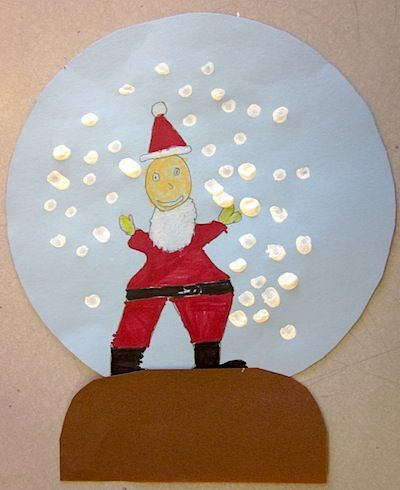 Art Is Basic snowglobe picture