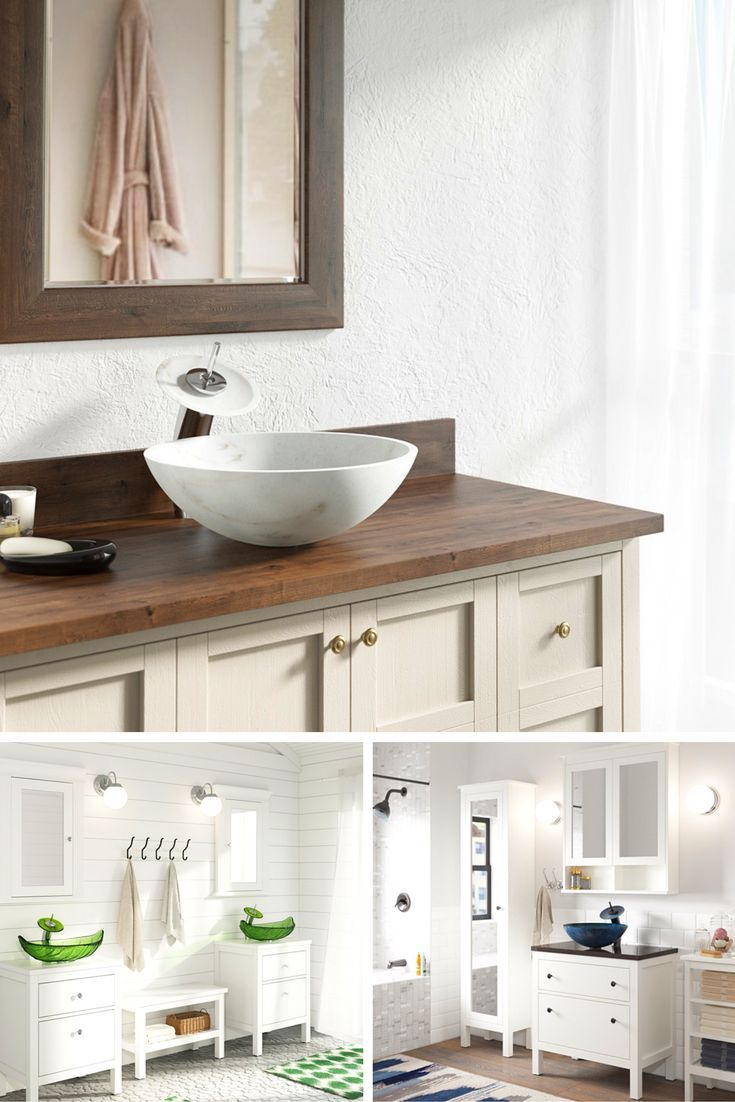 Match the style of cabinet to your existing design. A modern vanity ...