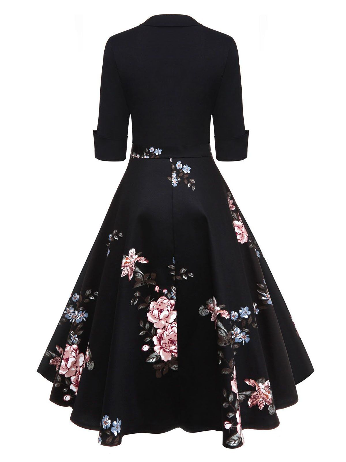 4cd80198d051 1950s Floral Print Patchwork Swing Dress – Retro Stage - Chic Vintage  Dresses and Accessories