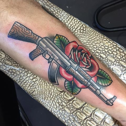 30 AK 47 Tattoos With Meanings and Their Exploding Popularity