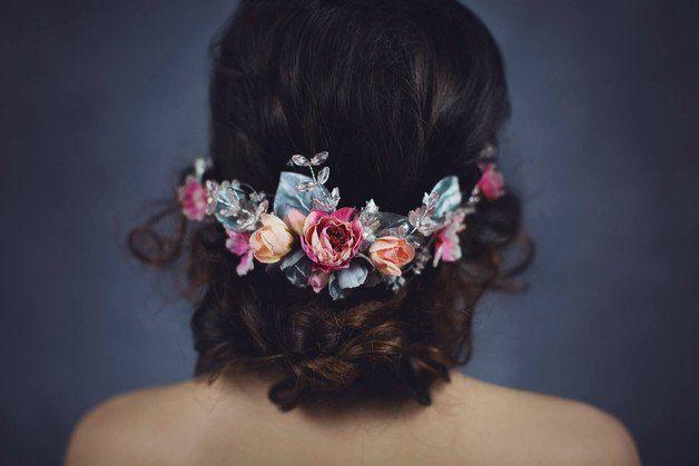 Kwiatowy Pol Wianek Kwiaty Do Wlosow Flower Wreath Hair Floral Head Wreath Bridal Hair Wreath
