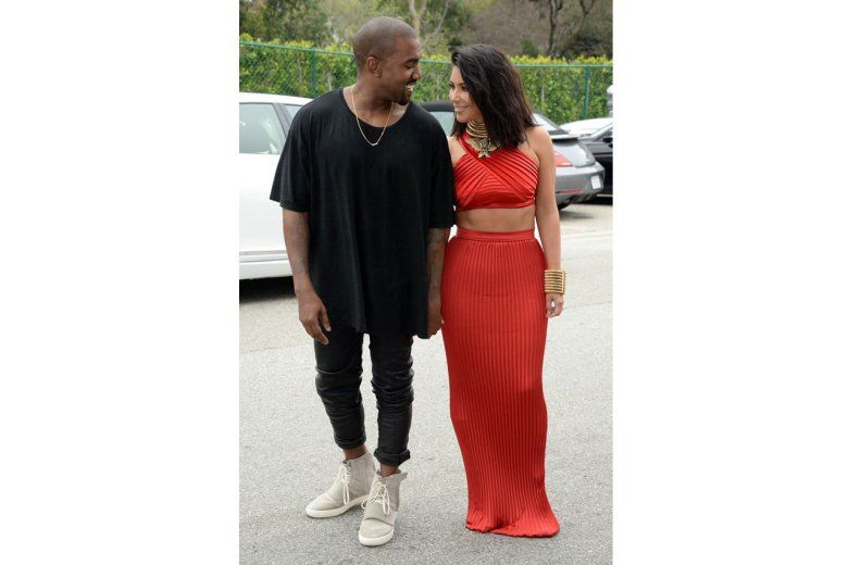 new concept 20df7 ed978 Kanye West is Seen in His New adidas Yeezy 750 Boost ...