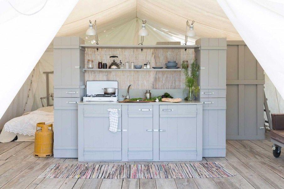 Buitenkeuken grijs tent home guest room