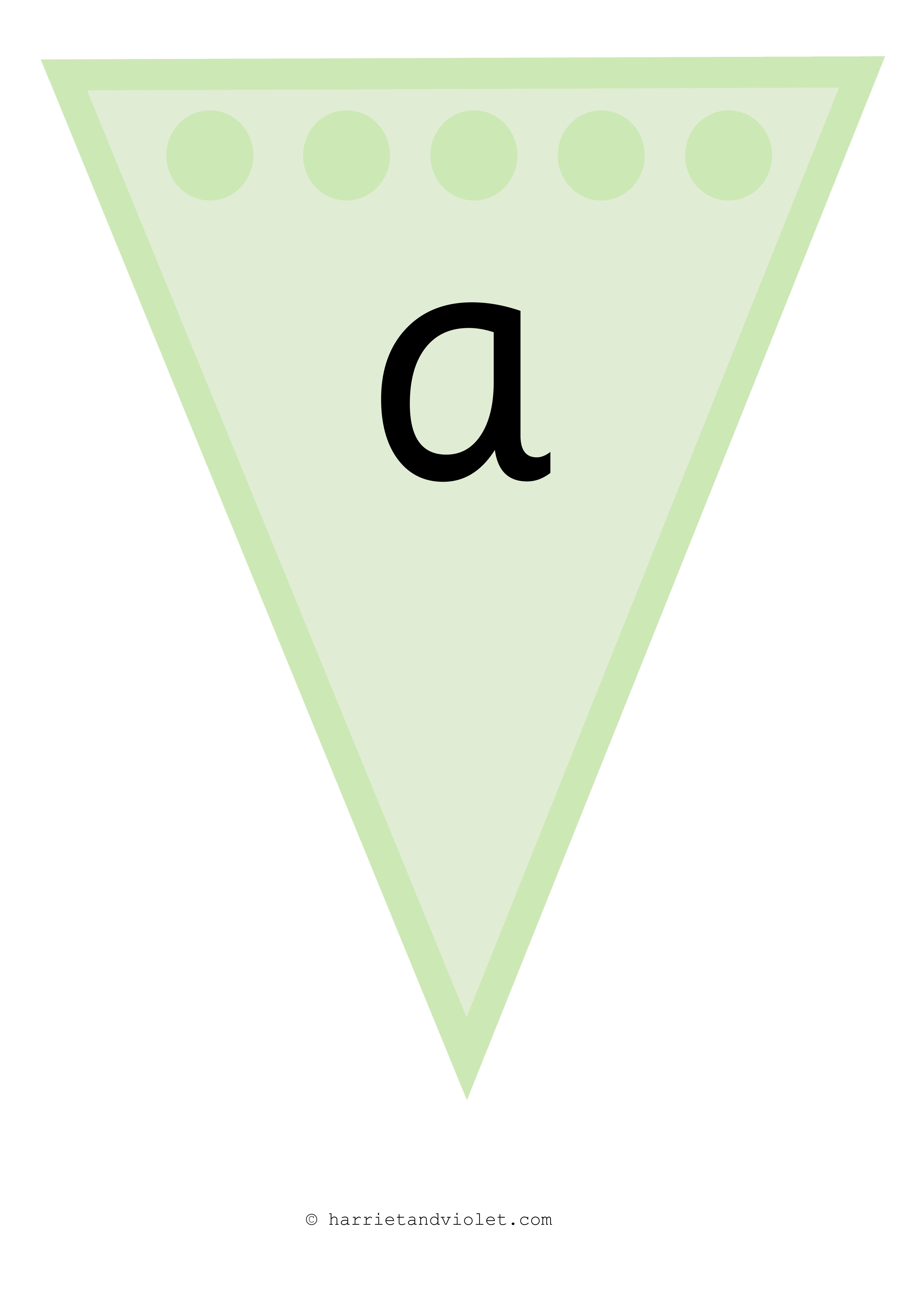 Instant Display Lettering Alphabet Flags Bunting Lower