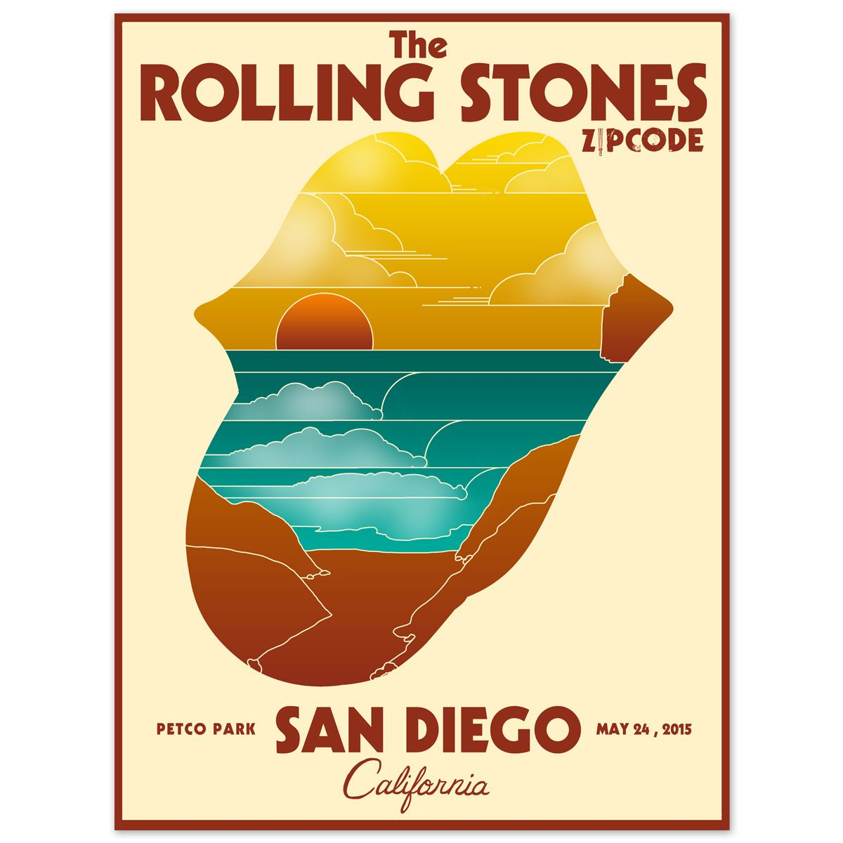 The Rolling Stones ZIP Code Tour San Diego US The Rolling - Us zip code san diego