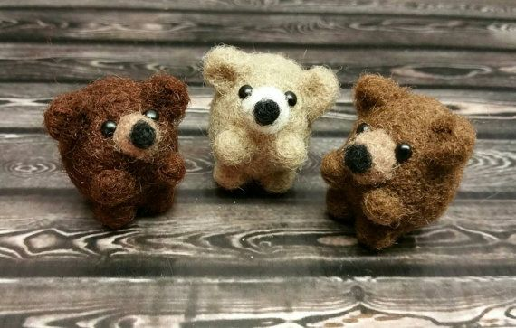 Three Bears Popcorn Version Mini Bears by PigsFromABlanket