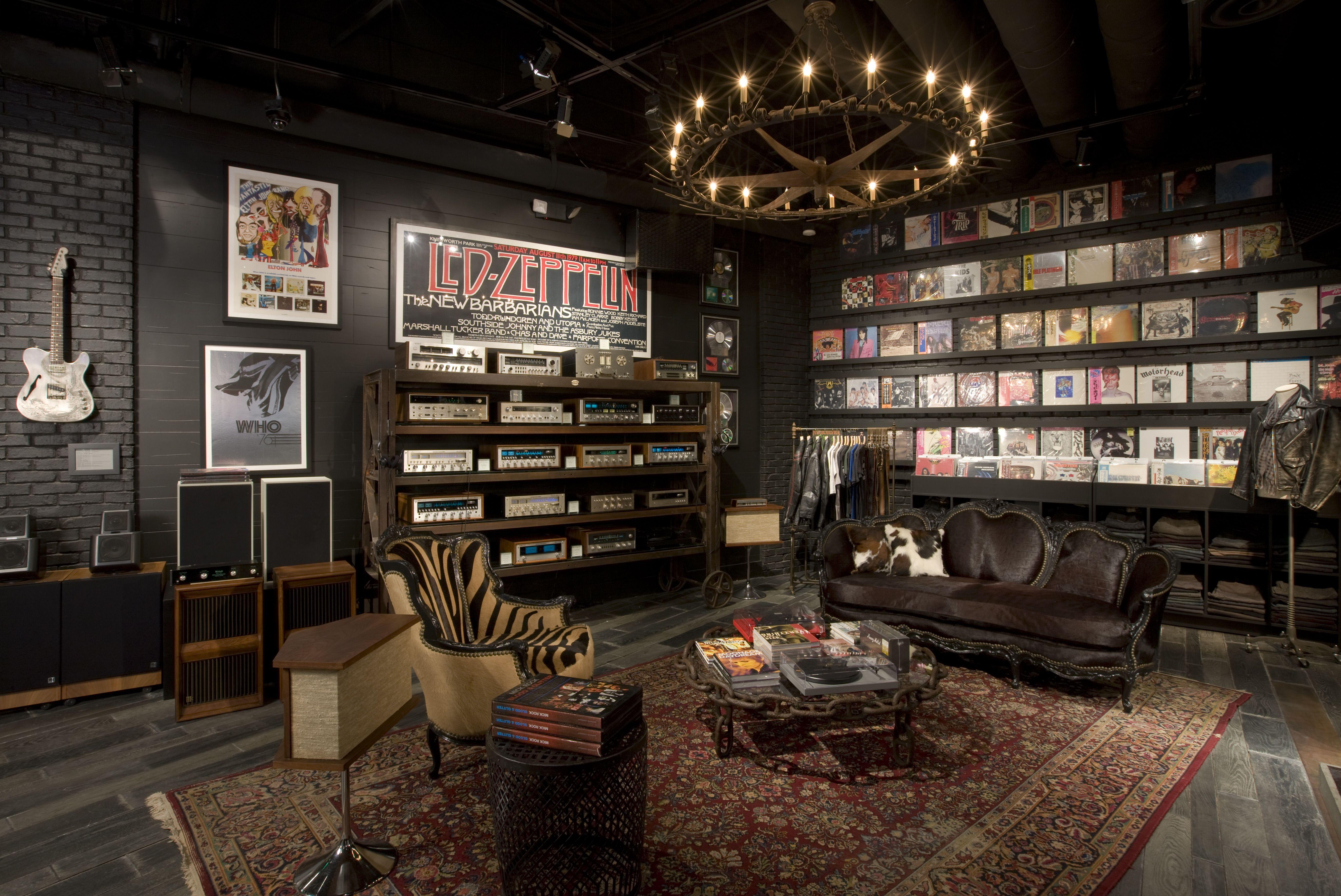 John Varvatos Boutique Hard Rock Las Vegas Nv Home Music Rooms Man Cave Home Bar Music Studio Room