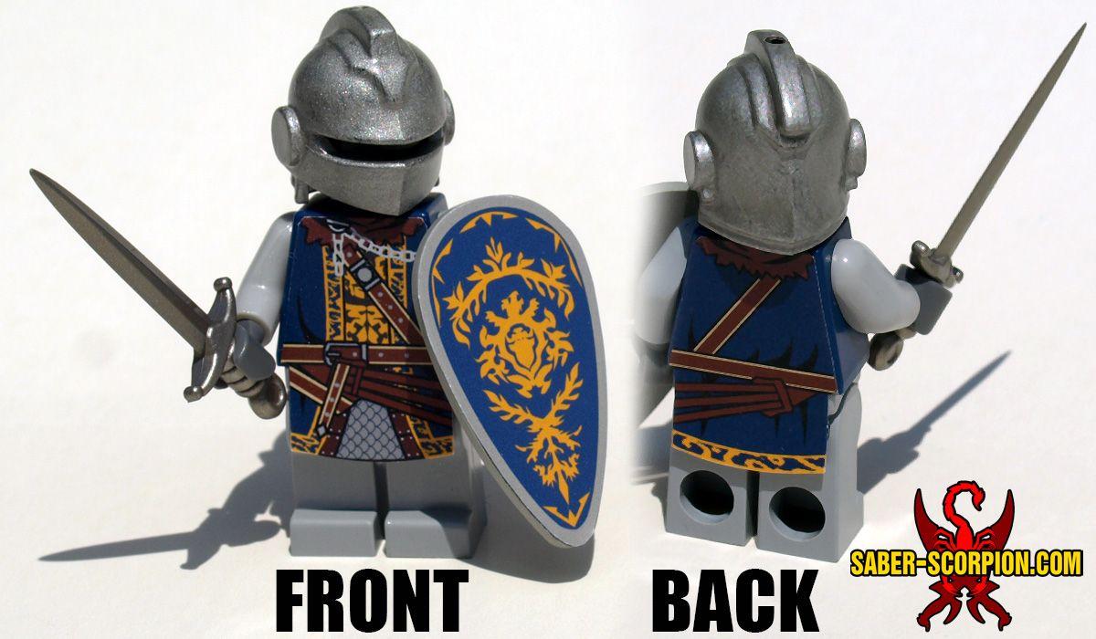 Lego Custom CASTLE TEMPLAR BLACK CROSS KNIGHTS Minifigs NEW made from Stickers
