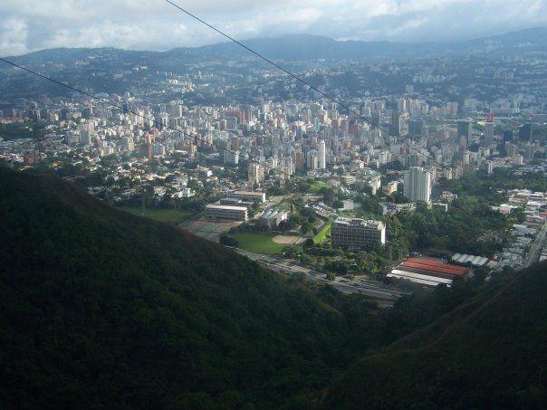 Vista desde el teleférico. Caracas-Venezuela
