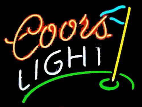 Coors light golf neon beer sign neon pinterest neon beer coors light golf neon beer sign mozeypictures Gallery