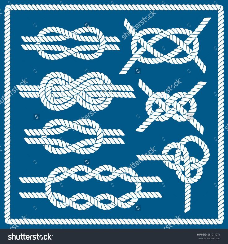 Sailor Knot Set Nautical Rope Infinity Stock Vector (Royalty Free) 281014271