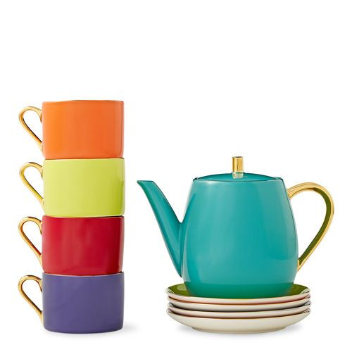 Multicolor viv teapot set 150 teavana at paseo nuevo - Teavana tea pots ...