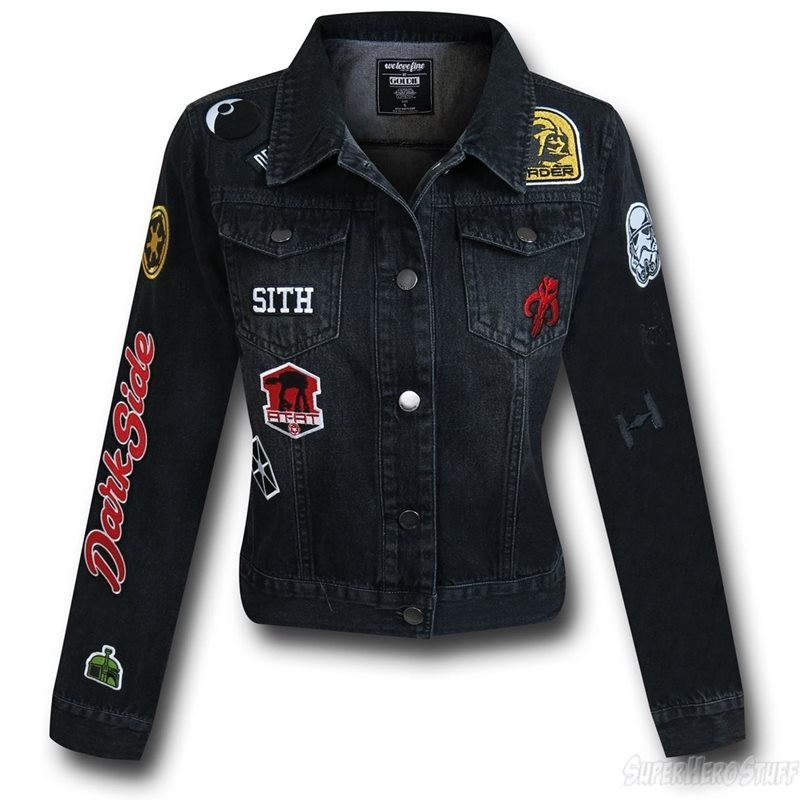 The Star Wars Darkside Women's Denim Jacket makes like it is the 1980s. When are we watching 'Return of the Jedi'? I'll bring the popcorn. Check it out now!