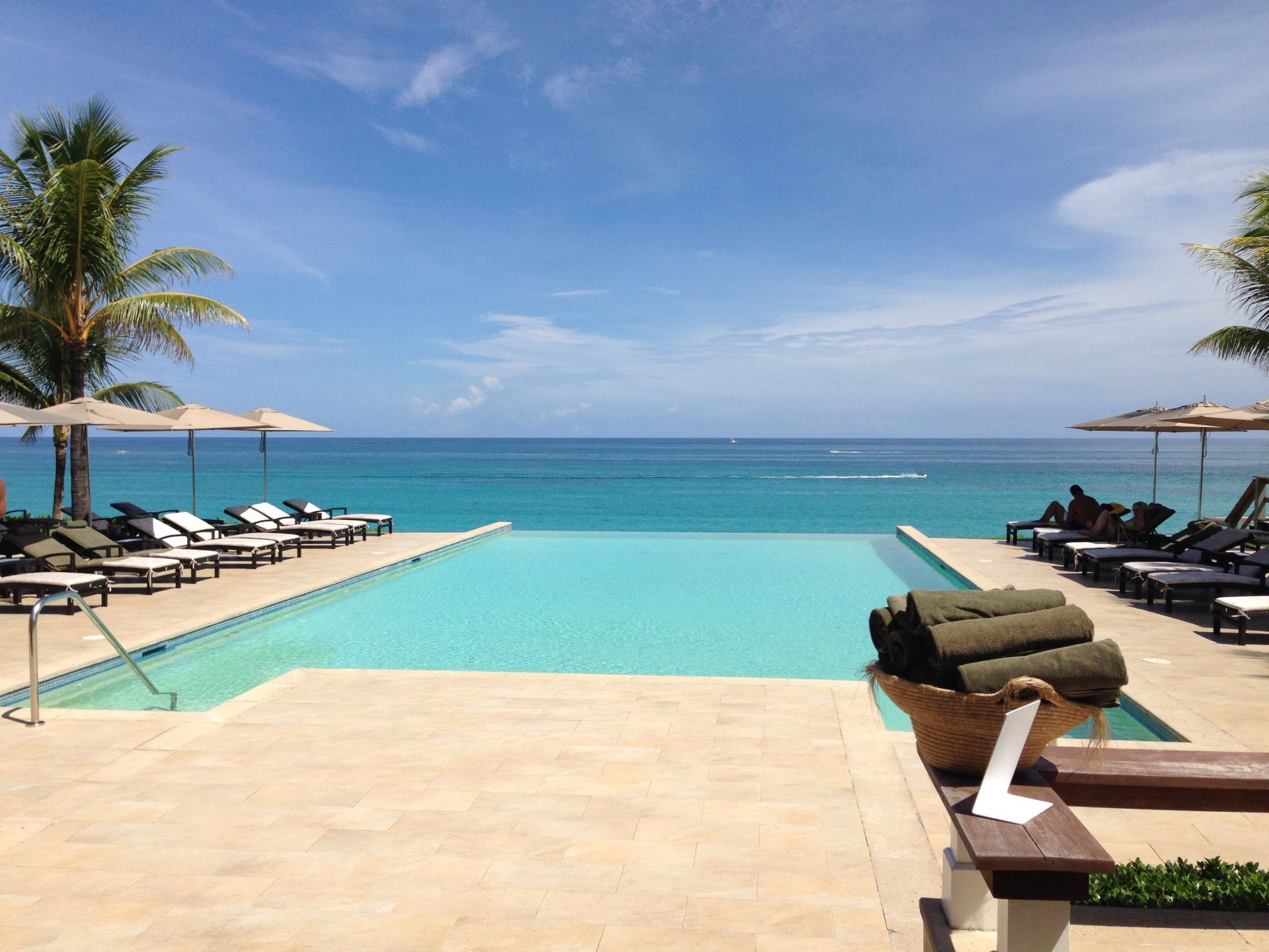 infinity pool at the one u0026only ocean club in nassau paradise island