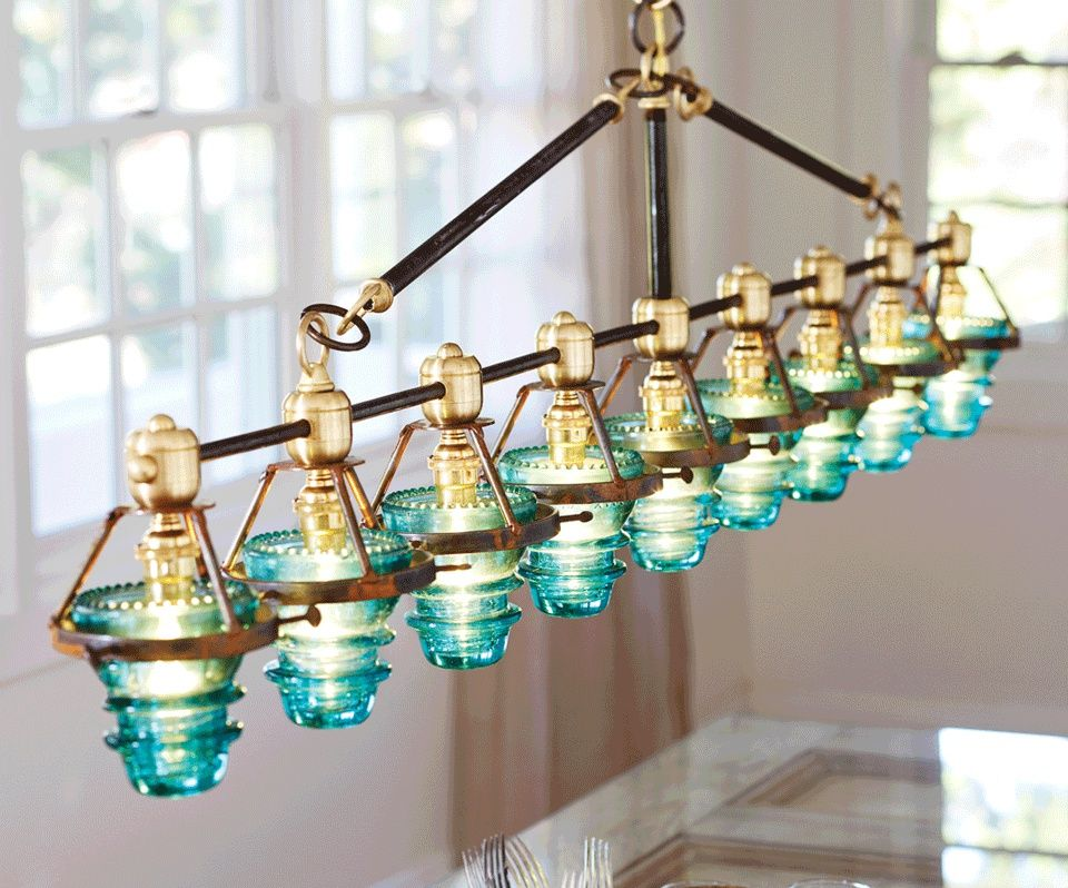 Copper Shade And Green Insulator Insulator Lights Industrial