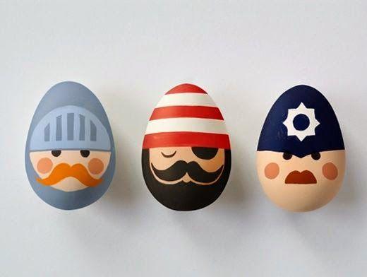 Easter egg decorating roundup Blanco y Negro HUEVOS DE PASCUA (III - huevos decorados