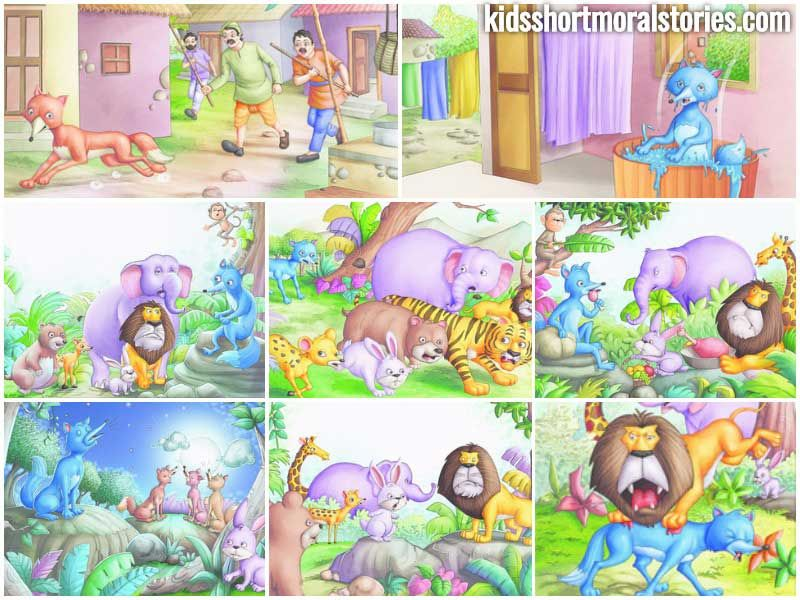 The Blue Jackal Story - Panchatantra Stories  English Short Stories