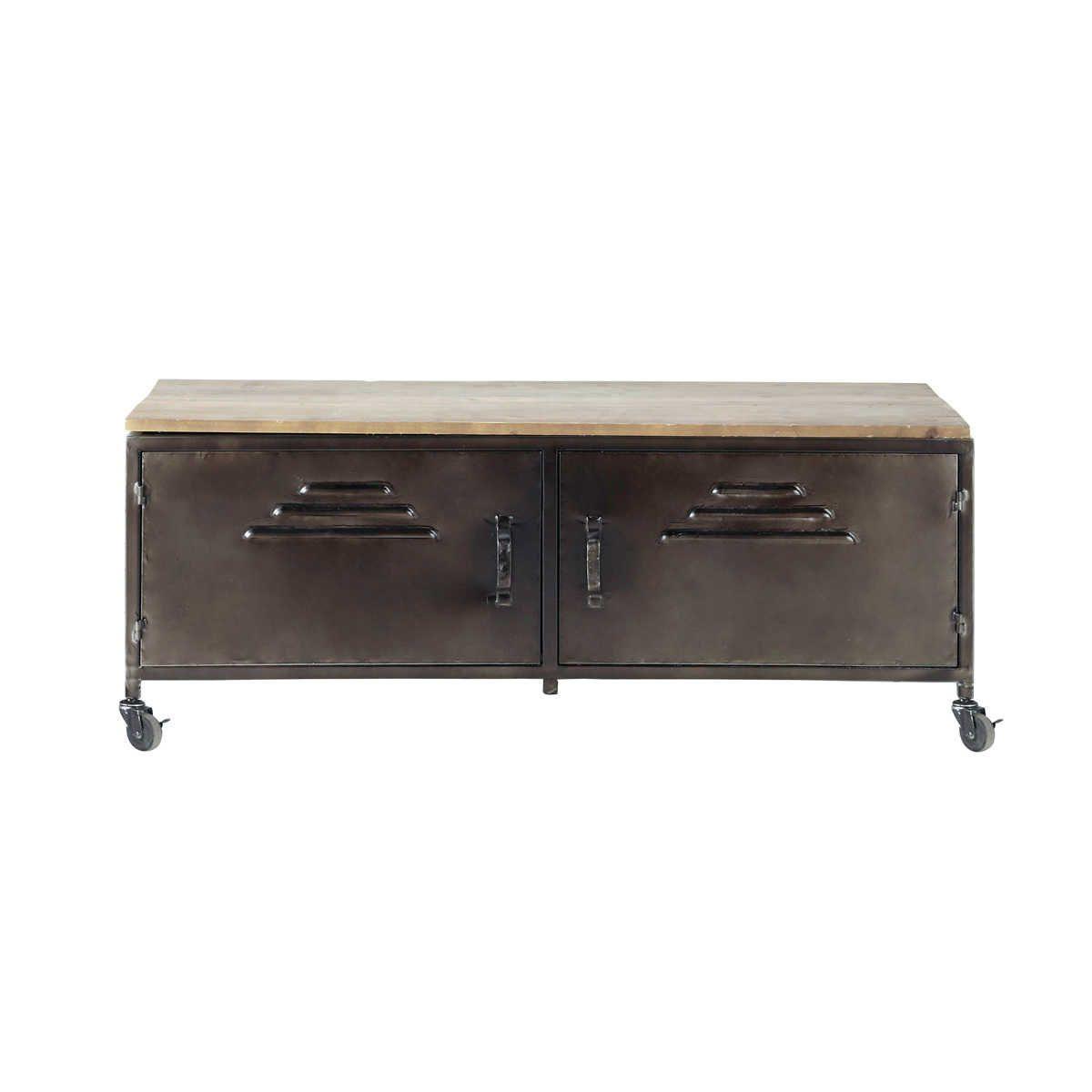 Mueble tv de estilo industrial wayne danza muebles muebles para tv y estilo industrial - Le monde muebles ...