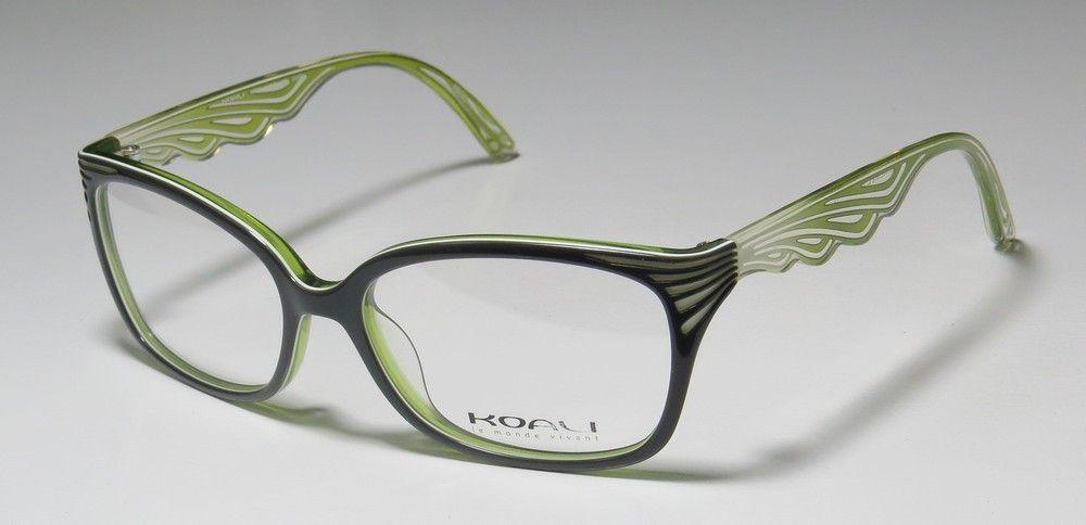 Koali 6943K 54-16-135 Dark Gray / Green / White Eyeglasses Koali ...