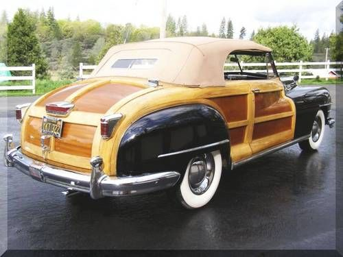 1947 Chrysler Town Country Convertible Rare Woody 119 9 For