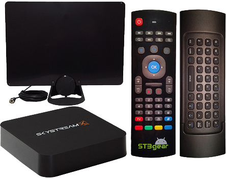 83252b613cf SkystreamX Android TV Box with Air Mouse Remote & HDTV Antenna - The  Ulitmate Cable Cutting Package