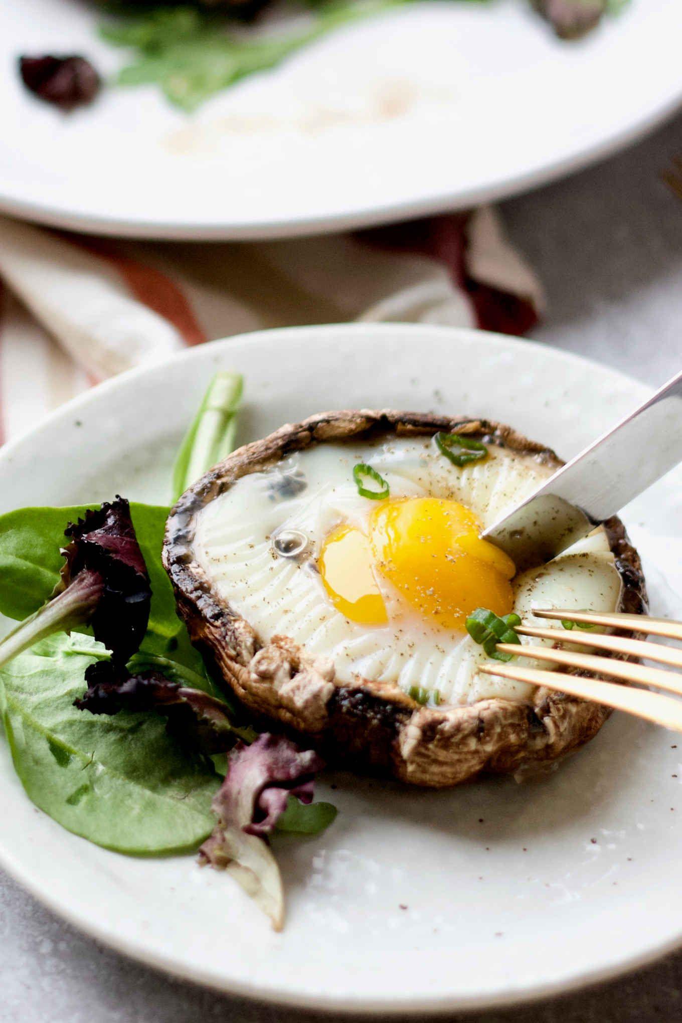 Photo of Baked Eggs in Portabella Mushroom Caps (Paleo, Keto, Whole 30)