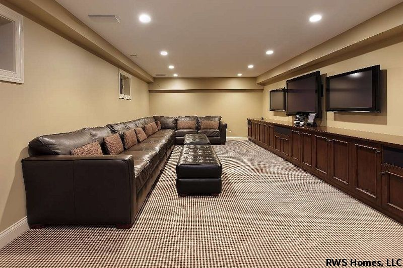Basement Finishing Costs Basement Living Rooms Basement Lighting Finishing Basement