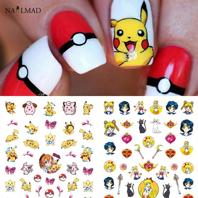 x20 NAIL ART WRAP WATER TRANSFER STICKERS/DECALS BLACK OUTLINE SWALLOWS  #311: Amazon